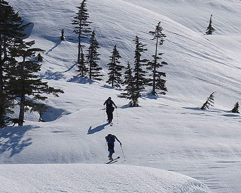 Backcountry skiing in Prince William Sound