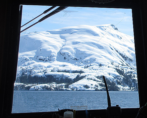 Looking out the window at Prince William Sound's Alaska Views