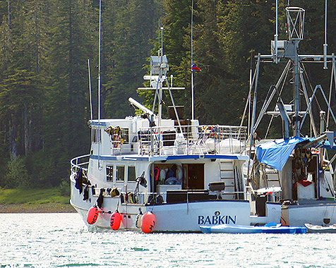 The Babkin at harbor, preparing for it's next Prince William Sound Charter